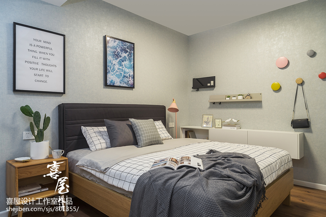 小户型北欧主卧设计图卧室北欧极简卧室设计图片赏析