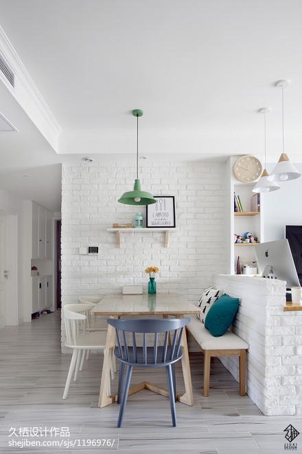2018精选103平米三居餐厅北欧设计效果图厨房