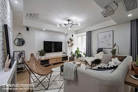 170方复式客厅设计图复式北欧极简家装装修案例效果图