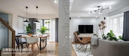 新作《木景记》杭州清水公寓170方复式 原木自然风_3096200
