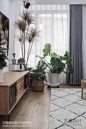 典雅73平北欧复式客厅设计效果图复式北欧极简家装装修案例效果图