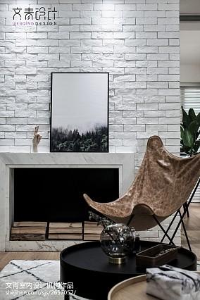 华丽84平北欧复式客厅装饰美图复式北欧极简家装装修案例效果图
