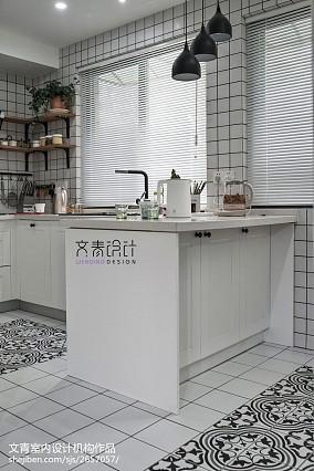 170方复式吧台设计图复式北欧极简家装装修案例效果图