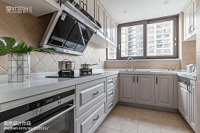 138平米四居厨房美式装饰图片