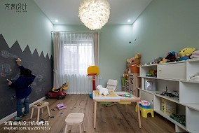170方复式儿童房图片复式北欧极简家装装修案例效果图