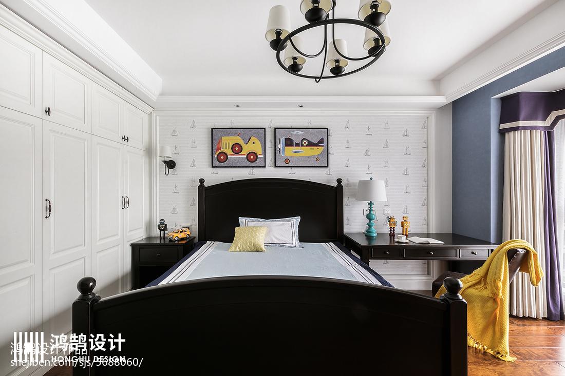 质朴83平美式三居儿童房效果图卧室美式经典卧室设计图片赏析