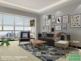 热门96平方三居客厅北欧装修实景图片
