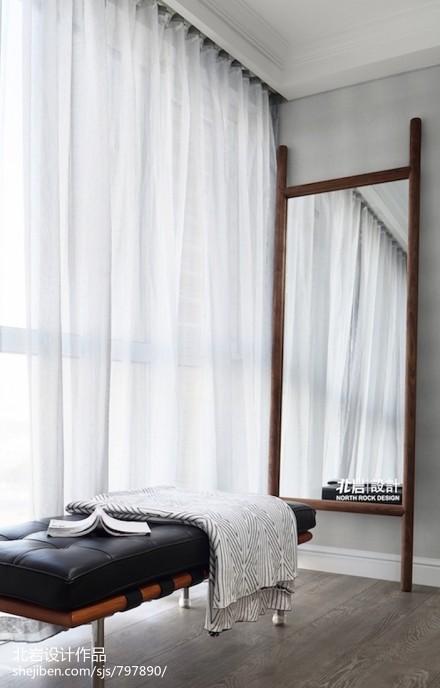 温馨103平田园三居客厅设计案例