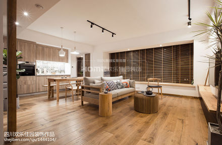 2018面积94平日式三居客厅装修图片三居日式家装装修案例效果图