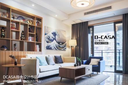 201875平米二居客厅日式装饰图