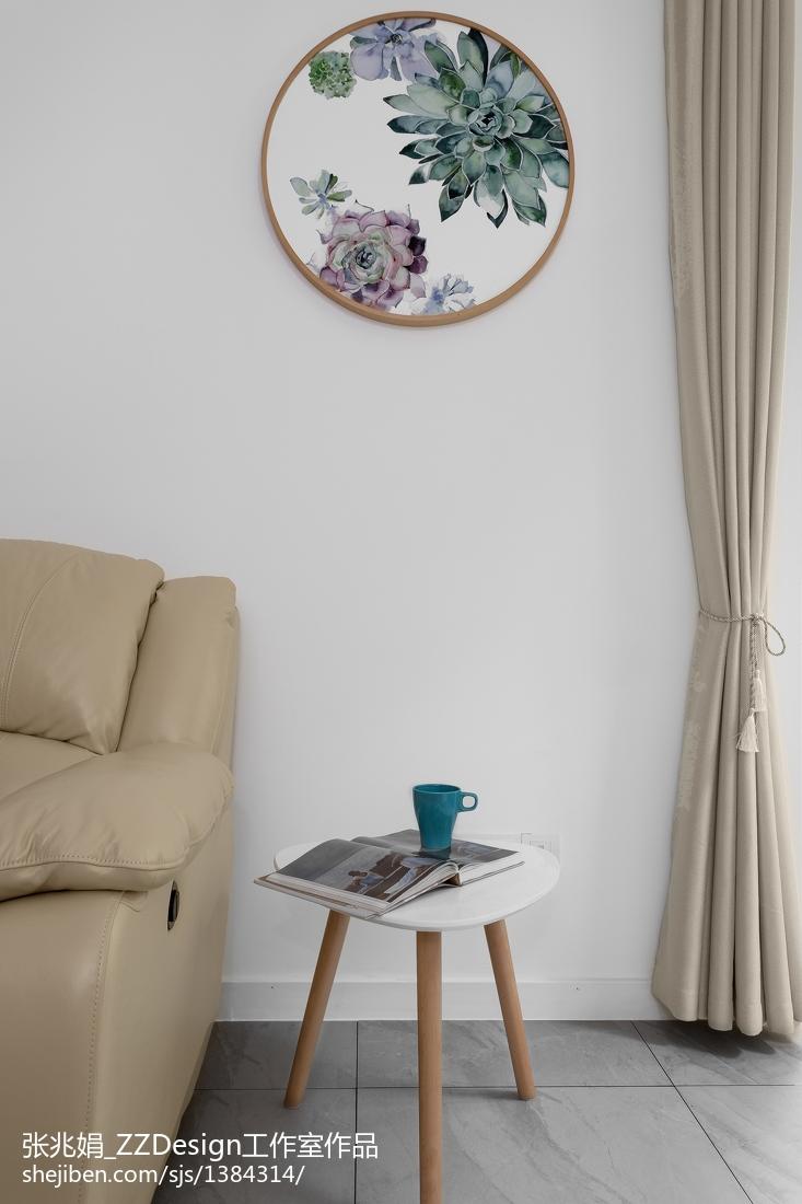 精美97平米三居客厅北欧装修欣赏图片大全客厅