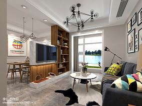 2018精选宜家二居客厅装修设计效果图片欣赏
