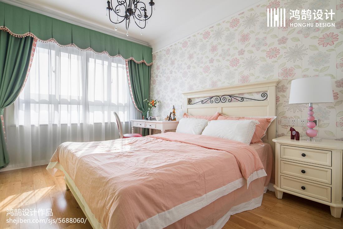 热门109平米三居儿童房美式效果图片大全卧室美式经典卧室设计图片赏析