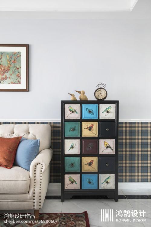 精美大小109平美式三居客厅装修效果图片欣赏客厅沙发1图