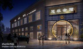 中式田园风格酒楼装修效果图