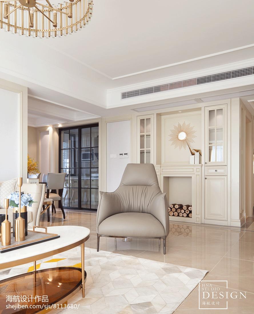 美式三居壁炉设计图片客厅美式经典客厅设计图片赏析