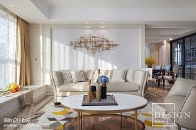 精选103平米三居客厅美式装修欣赏图片