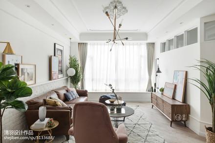 热门面积106平北欧三居客厅实景图片欣赏客厅