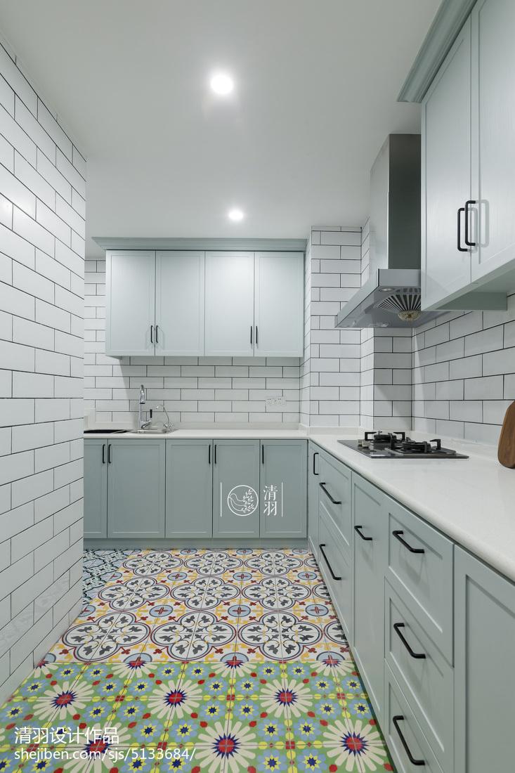 轻奢95平北欧三居装修装饰图餐厅北欧极简厨房设计图片赏析