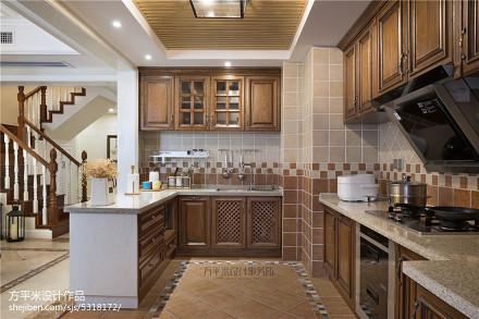 质朴52平美式复式厨房设计案例餐厅