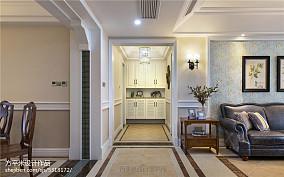明亮160平美式四居玄关装潢图四居及以上美式经典家装装修案例效果图