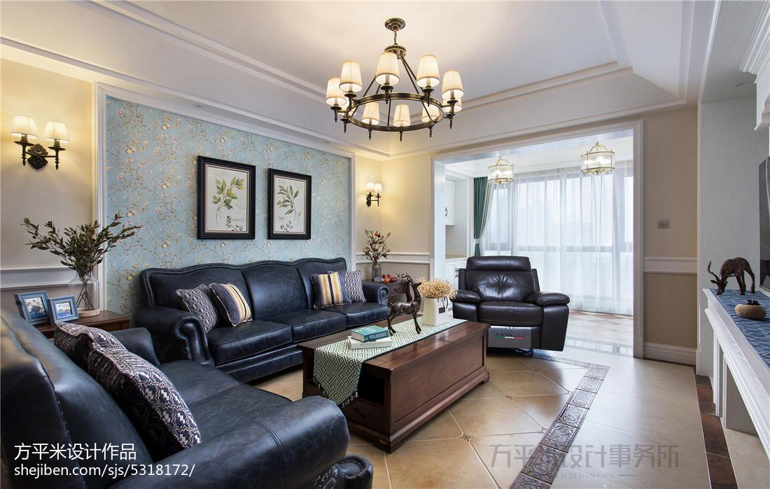 质朴168平美式四居客厅实景图片客厅美式经典客厅设计图片赏析