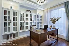 优美118平美式四居书房设计案例四居及以上美式经典家装装修案例效果图