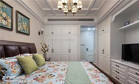 温馨104平美式四居卧室装修装饰图四居及以上美式经典家装装修案例效果图