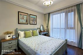 大气98平美式四居卧室装饰图四居及以上美式经典家装装修案例效果图