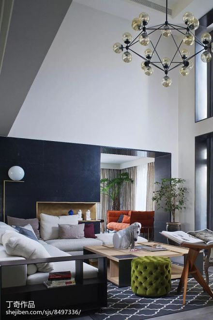 精美面积119平别墅客厅现代装修图片