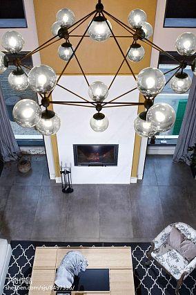 精选117平米现代别墅客厅装修欣赏图家装装修案例效果图