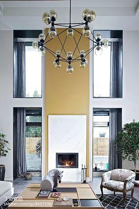 精选大小131平别墅客厅现代欣赏图别墅豪宅现代简约家装装修案例效果图