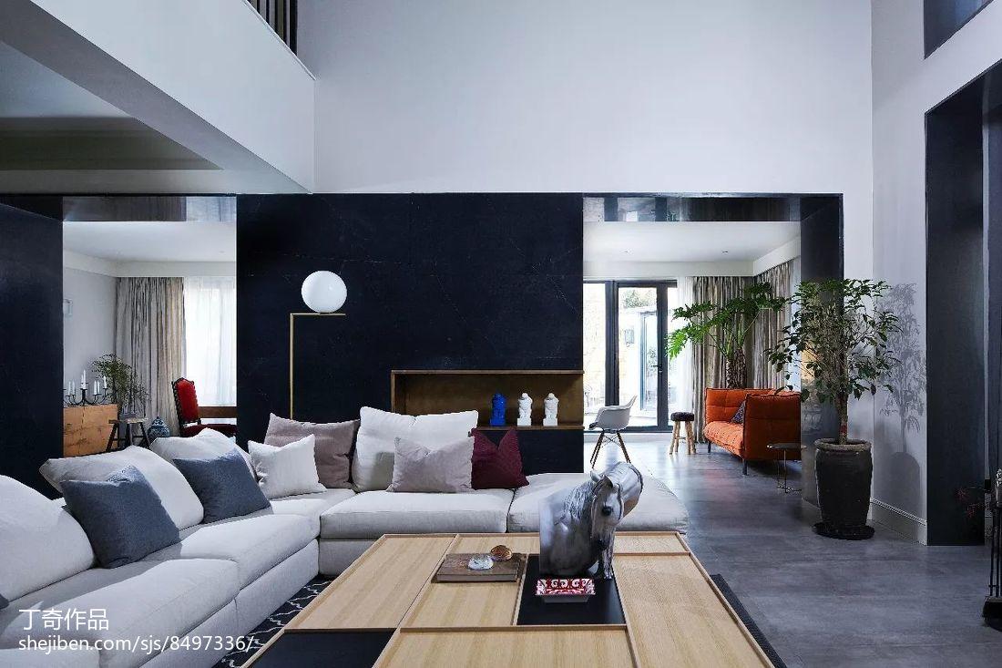 精美139平米现代别墅客厅装修实景图片欣赏别墅豪宅现代简约家装装修案例效果图