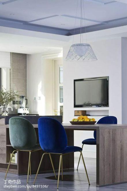 热门面积133平别墅餐厅现代实景图片厨房