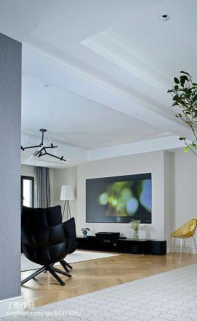 精美114平米现代别墅客厅实景图片大全别墅豪宅现代简约家装装修案例效果图