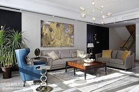 精选137平米美式别墅客厅装修设计效果图片别墅豪宅美式经典家装装修案例效果图