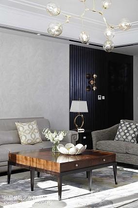热门141平米美式别墅客厅实景图片欣赏别墅豪宅美式经典家装装修案例效果图