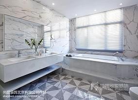 面积120平别墅卫生间美式装饰图片大全别墅豪宅美式经典家装装修案例效果图