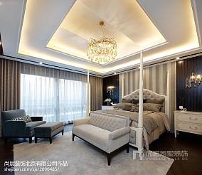 热门128平米美式别墅卧室装修图别墅豪宅美式经典家装装修案例效果图