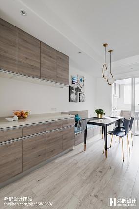 面积72平现代二居餐厅效果图片大全二居现代简约家装装修案例效果图