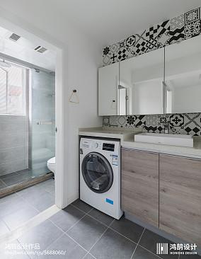 热门面积76平现代二居卫生间装饰图二居现代简约家装装修案例效果图