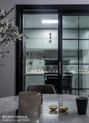 2018现代复式厨房装饰图片
