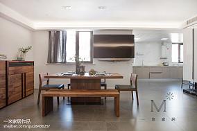 热门86平米二居餐厅现代装修图片