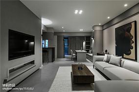 精选面积101平现代三居客厅装修效果图片