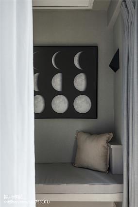 2018106平米三居卧室现代效果图片