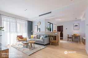 92平米三居客厅北欧设计效果图