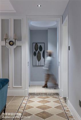 温馨115平美式三居玄关图片欣赏三居美式经典家装装修案例效果图
