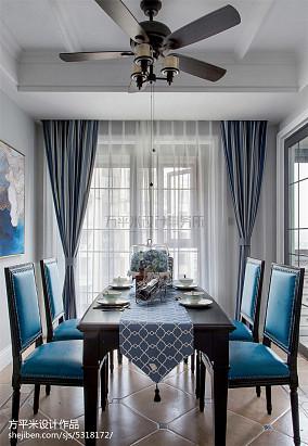 美式餐厅实景图三居美式经典家装装修案例效果图