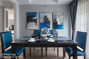 典雅110平美式三居餐厅装饰图片三居美式经典家装装修案例效果图