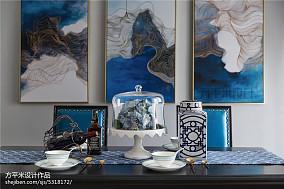 质朴121平美式三居餐厅效果图片大全三居美式经典家装装修案例效果图